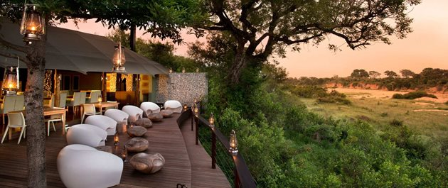 ngala tented camp guest area